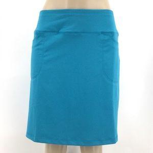 NWT NIVO SPORT Skort L Aqua Skirt Stretch Athletic